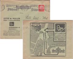 DR - Nürnberg 1936 Illustr. Firmenkuvert/Geschäftspapiere N. Osterhofen - Brieven En Documenten