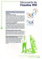 """FRANCE 2011 """" DECOUVERTE INSULINE """" Sur Document Philatélique Officiel. N° YT 4630. Parfait état. DPO - Medicina"""