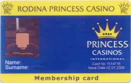 BULGARIA KEY CASINO Rodina PRINCESS Casino  - SOFIA - Casino Cards