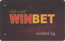 BULGARIA KEY CASINO    WinBet Club Card  - SOFIA - Casino Cards