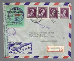 643 X 4 Lsc Rec.controle De Douane Bruxelles 2? X 1950 => Hradec Kralové Tchécoslovaquie Griffe Tchèque - Covers & Documents