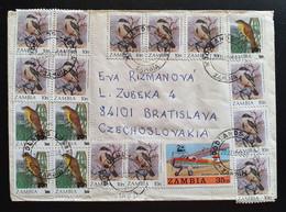Zambia 1988, Brief MiF WOODLANDS Gelaufen Tschechoslowakei - Zambia (1965-...)