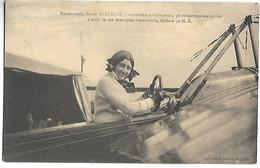 AVIATRICE - Marie MARVINGT - Pilote Aéronaute Aviatrice à Bord De Son Monoplan Deperdussin - Airmen, Fliers