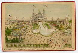 Gravure Originale Sur Carton EXPOSITION UNIVERSELLE DE 1878 TROCADERO B. K. Editeur  PARIS - Places