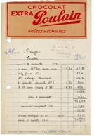 Facture - Reçu : Chocolat Poulain , Entreprise L. LOGRE à Honfleur , Calvados - - 1900 – 1949