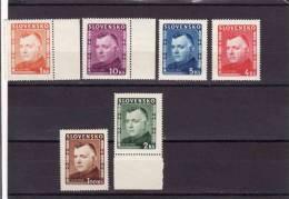 Slovakia 1939-45, President Tiso, Mi 156-61** - Nuovi