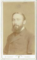 Photo CDV. Foto Froment, Tournai. Homme Barbu. - Old (before 1900)