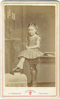 Photo CDV. Foto Froment, Tournai. Petite Fille. - Old (before 1900)