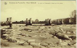 Environs De Florenville. Hiver 1928-29. Pont De Chassepierre Bloqué Par Les Glaces. - Florenville