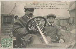 NAZZARO SUR VOITURE FIAT VAINQUEUR DU GRAND PRIX DE L'ACF CIRCUIT DE LA SEINE INFERIEURE 2 JUILLET 1907 - Otros Municipios