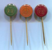 RTB Belgrade Serbia - Television TV Radio, Vintage Pin, Badge, Abzeichen, 3 Pcs - Mass Media