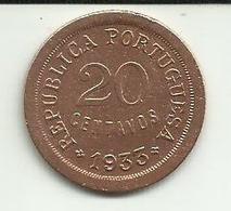 20 Centavos 1933 Guiné Bissau - Guinea-Bissau