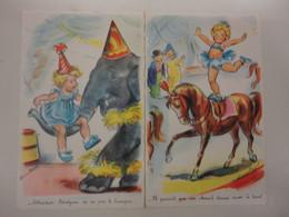 GERMAINE BOURET 2 CARTES SERIE BOURET N°1206 M.D PARIS - Bouret, Germaine