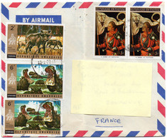 Lettre Envoyée Du Rwanda En France (5 Timbres) - 1970-79: Used