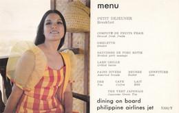 PHILIPPINE Airlines , Menu , 1970-80s - 1946-....: Ere Moderne