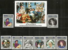 ILES FIDJI.  Hommage à La Reine Mère Elisabeth, Série + Bloc-feuillet Neufs **,  Côte  15,00 Euro - Fiji (1970-...)