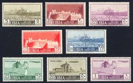 1939 LIBIA 13a FIERA DI TRIPOLI N.158/162 + PA N.A38/A40 NUOVI* TRACCIA DI LINGUELLA SPLENDIDI  - MLH VERY FINE - Libia