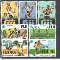 SPORTS: Jeux Du Pacifique Sud (Football, Rugby,baskett Ball,haltères,etc)  7 Timbres Neufs ** - Fiji (1970-...)