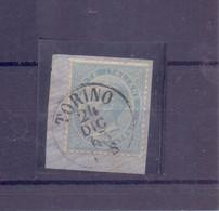Bel Frammento Con VEII Da 15c - Annullo Torino 1863 -DLR - Storia Postale