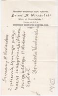 Poland Polska 1929 Wilno Wilna Vilnius, Dyrektor Miejskiego Szpitalu Zydowskiego, Jewish Judaica Jew - Historische Dokumente