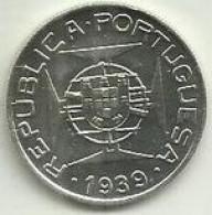 5 Escudos 1939 S. Tomé Silver (6) - Sao Tome And Principe