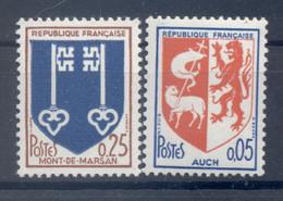 France 1966 - Y & T  N. 11468/69 - Armoiries De Ville  (Michel N. 1534/35 A) - 1941-66 Coat Of Arms And Heraldry