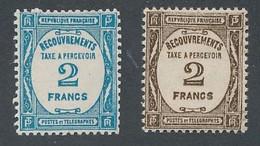 EC-149: FRANCE: Lot Avec Taxe N°61*-62* - 1859-1955 Postfris