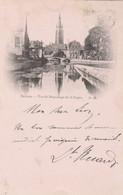 Bruges , Brugge , Vue Du  Béguinage De La Vigne ,( Circulé En 1897 ) - Brugge