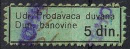 TOBACCO Cigarettes Seller Shop ASSOCIATION Member Tax LABEL CINDERELLA 1930's Serbia Yugoslavia Dunavska Banovina - Tabak