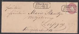 Sachsen Brief EF Minr.16 Zwickau 25.10.65 Gel. Nach Leipzig - Sachsen