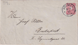 Germany 1890, Letter From Dulmen To Budapest (Hungary) - Zonder Classificatie