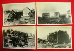 Catastrophe Ile De La Réunion Cyclone Du 26- 27 Janvier 1948 Lot 12 Photos Format De La Cpa 14x9 Cms Gare St Benoit Etc - Autres