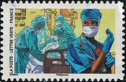 France 2020 Oblitéré Used Contre Le Covid Tous Engagés Équipe De Réanimation - Used Stamps