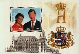 Luxembourg Bloc BF18 100 F Prince Henri Et Princesse Maria Teresa 2000 - Blocs & Feuillets