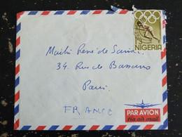 LETTRE NIGERIA AVEC YT 163 JEUX OLYMPIQUES TOKYO ATHLETISME - Nigeria (1961-...)