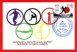 "Armenien/Armenie/Armenia 2021, XXXII Summer Olympic Games ""Tokyo-2020"", Japan, Mount Fuji - Card Maximum - Summer 2020: Tokyo"