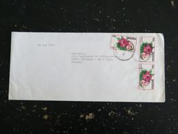 LETTRE NIGERIA AVEC YT 495 Hibiscus Flore Fleur Flower - Nigeria (1961-...)