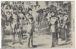 CPA SEDAN, ENTREVUE DE NAPOLEON III ET DE GUILLAUME AU CHATEAU DE BELLEVUE, 2 SEPTEMBRE 1870, SUZAINE PIERSON, ARDENNES - Sedan