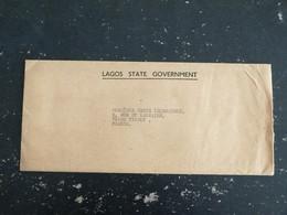 LETTRE AVEC CORRESPONDANCE NIGERIA AVEC ENTETE LAGOS STATE GOUVERNMENT - Nigeria (1961-...)
