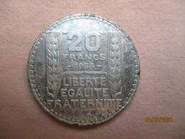 France: 20 Francs Turin 1938 - L. 20 Franchi