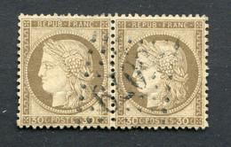 !!! PAIRE DU N°56 OBLITEREE GC 5079 ALEXANDRETTE - 1849-1876: Période Classique