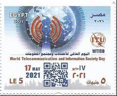 Egypt 2021 MNH, WORLD TELECOMMUNICATION And International Society DAY,ITU,(Egypte) (Egitto) (Ägypten) (Egipto) (Egypten) - Nuovi