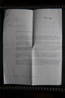 Lette Du Sénat  ( Palais Du LUXEMBOURG ) Adressée Le 5 Octobre 1945 Au Sénateur Bertrand CARRERE. - Documenti Storici