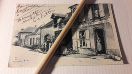 77 Vimpelles Epicerie Et Maréchalerie Bourrat (Entrée Du Village) Carte Très Rare - Andere Gemeenten