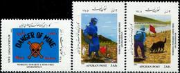 C111- Mine Free Afghanistan 2006. Dog. Skull. Flag. Animals. Mountains. - Afghanistan