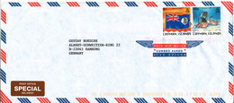 Cayman Islands Air Mail Cover Sent To Germany 28-4-2000  Topic Stamps - Iles Caïmans