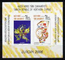 Türkisch-Zypern / Turkish Republic Of Northern Cyprus / Chypre Turc 2006 Unperforated Block EUROPA ** - 2006