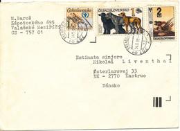 Czechoslovakia Cover Sent To Denmark 24-9-1990 - Brieven En Documenten