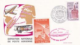 1973 Exposition Nationale De Poste Aerienne Toulouse Avec VIGNETTE - Andere