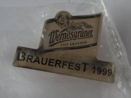 Bier-Pin: Wernesgrüner Brauerei, Brauereifest 1999, Sachsen, OVP - Birra